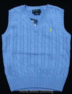 New Ralph Lauren blue sweater vest 12 months 2T 3T 4 5