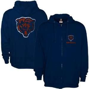 Chicago Bears Navy Blue Touchback Full Zip Hoody