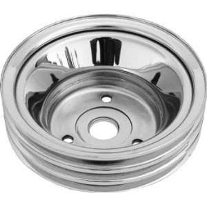 Chrome Steel Crankshaft Lower Pulley (SB Chevy 283 350 69 85 3 Groove)