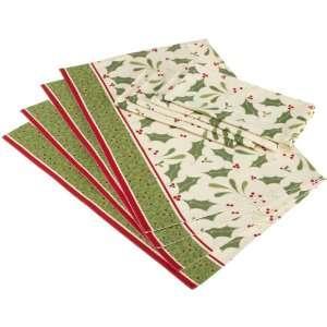 DII Holly Jolly Print Table Linen Set