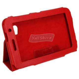Tablet PC Leather Stand Case for Samsung Galaxy Tab P6200/P6210 Red