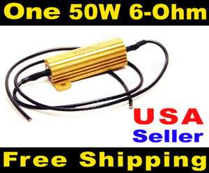 One Load Resistor LED Bulb Turn Signal Lights Flash Fix