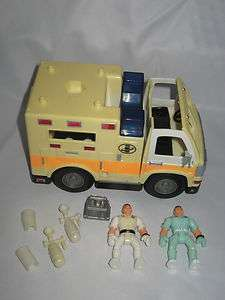 Fisher Price Imaginext Rescue Truck Ambulance Vehicle Figures
