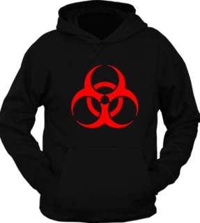 Biohazard Hazmat Hazard Symbol Pullover Hoodie T Shirt