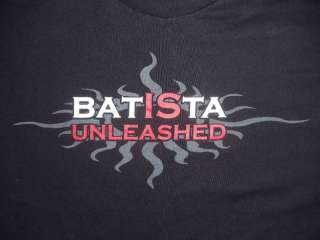 BATISTA UNLEASHED VTG WWE T SHIRT 2XL RARE