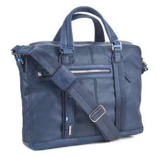 PIQUADRO P CUBE Portfolio Briefcase Blue Leather CA1903S42 New Italian