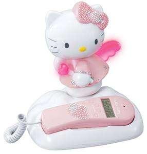 HELLO KITTY CORDED HOME TELEPHONE PHONE *w/BLING JEWELS