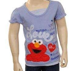 Sesame Street ELMO LOVE Shirt Top Tee APPLIQUE 2T 3T 4T