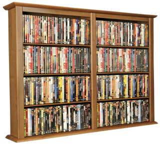 Oak 684 CD/DVD Wall Mount Media Storage Rack/Shelf