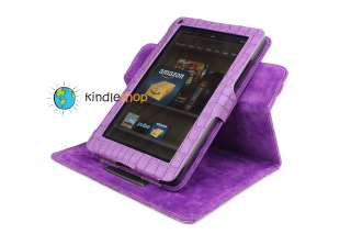 NEW PURPLE  Kindle FIRE Plush Adjustable Case Cover Skin QUICK