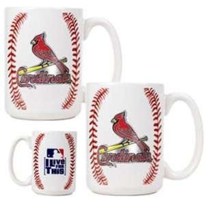 St. Louis Cardinals MLB Ball Ceramic Coffee Mug Set