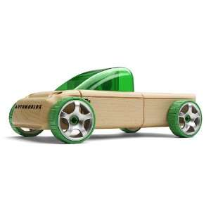 Automoblox T9 Green Wooden Toy Pickup Truck Sports