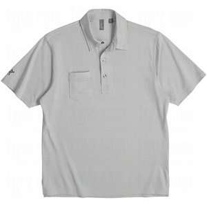 Ashworth Mens EZ TECH Performance Pocket Polo Pebble Small