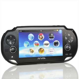 2in1 Black Silicone case cover Skin For PS VITA +Screen Protector Film