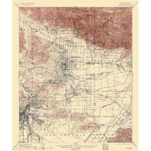 USGS TOPO MAP PASADENA QUAD CALIFORNIA (CA) 1900:  Home