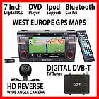 D5102E 7 IN DASH MAZDA3 DVD WEST EUROPE GPS MAPS REAR CAM EURO