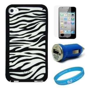 Premium White Zebra Design Protective Soft Silicone Skin