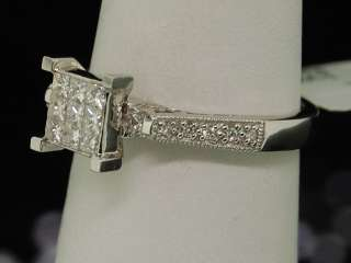 14K LADIES WHITE GOLD .45C SI DIAMOND ENGAGEMENT RING
