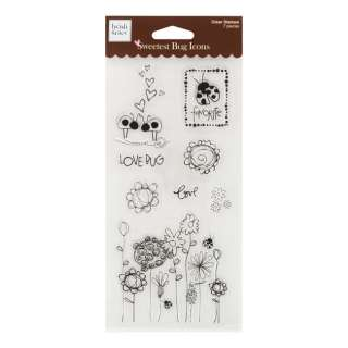 fiskars heidi grace clear stamps design sweetest bug icons number of