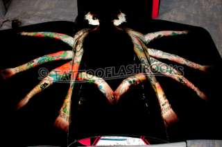 BLOODWORK Huge Tattoo Flash Machine Gun Kit Ink Book