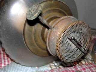 1880 antique victorian PARLOR OIL LAMP~SAILOR BOY CHILD DIE CUT in