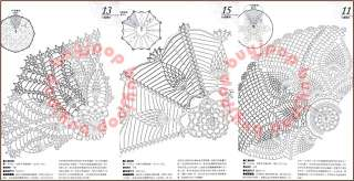 Chinese Japanese Craft Pattern Book Best 40 Pineapple Crochet Lace