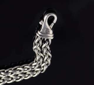 David Yurman Mens Cable Double Wheat Chain 8 Bracelet