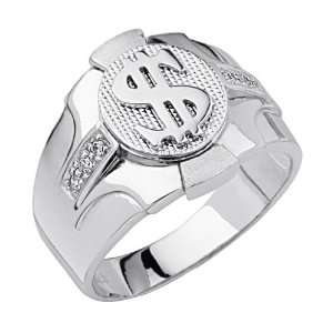 Dollar Sign Mens Ring   Size 10 The World Jewelry Center Jewelry