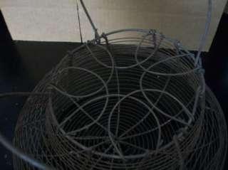 Vintage Rustic Wire Egg Basket