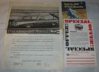 Revell 1/25 57 Chevy Nomad Plastic Model Kit # H 1260 copyright 1968