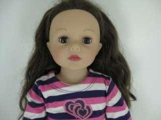 Madame Alexander 18 Doll W/ Long Brown Curly Hair & Brown Eyes