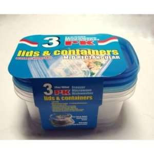 Plastic Food Storage Containers   3 Pack Case Pack 36
