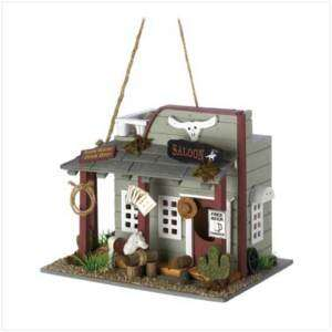 Wild Horse Saloon Bar Birdhouse Western Bird House