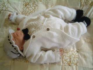 KNITTING PATTERN** TAIL COAT SUIT**FOR NEWBORN BABY BOY