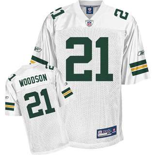 Reebok Green Bay Packers Charles Woodson Youth Replica White Jersey
