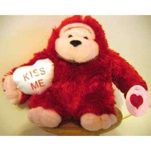 VALENTINE Plush Animal   KISS ME MONKEY: Toys & Games