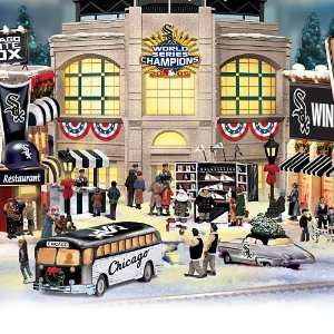 White Sox Collectible Christmas Village Collection Home & Kitchen