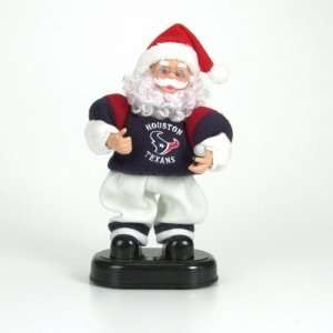 Houston Texans NFL Animated Rock & Roll Dancing Santa