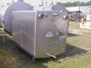 1000 gallon Stainless Steel sanitary construction tank Refrigerated