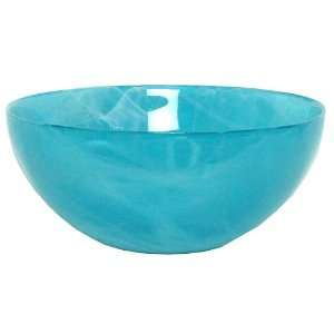 Art Glass Large Aqua Blue Salad Bowl 11.5D, 5H Home & Kitchen