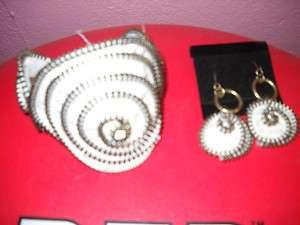 Vintage OOAK Handmade Zipper Bracelet & Earring Matching Set
