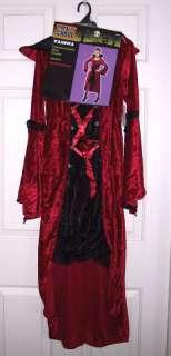 NWOT Womens Red Vampire Vampira Costume Dress OSFM
