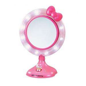 GIRL HELLO KITTY KT3020 LIGHTED MAKE UP MIRROR*ROTATING DRESSER VANITY