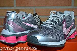 Womens Nike Shox Fly ZipSister+ Training Shoes Gray Pink White New In