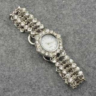 18k Gold Plated GP Luxury Ladies Diamante Wrist Bracelet Bangle Watch