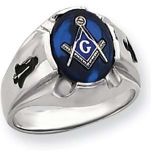 Oval Blue Lodge Ring   14k Gold/14kt white gold Jewelry