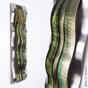 Abstract Metal Wall Art Green Sculpture Painting Decor: Home & Kitchen