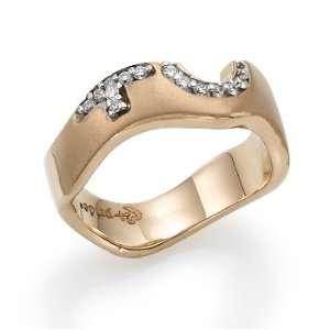 18k Rose Gold Female Insignia Ring Jewelry
