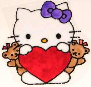 WINDOW COLOR Fensterbild Bild Hello Kitty m BärenHaft