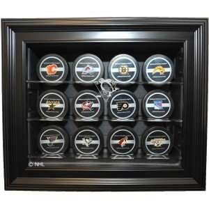 12 Puck Cabinet Style Display Case, Black   Pittsburgh Penguins   NHL